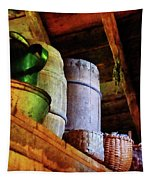 Baskets And Barrels In Attic Tapestry