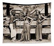 Batak Warriors In Indonesia 1870 Tapestry