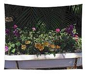 Bath Tub Flowers Tapestry