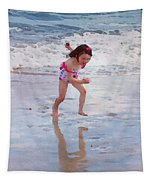 Bathing Beauty Running Tapestry