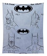 Batman Mask Patent Tapestry