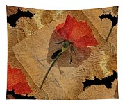 Bats And Roses Tapestry
