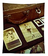 Battered Suitcase Of Antique Photographs Tapestry