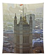 Battersea Power Station And Victoria Tower London Tapestry