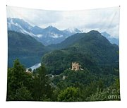 Bavarian Lake With Castle Tapestry