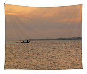 Bay Fishing Tapestry