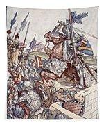 Bayard Defends The Bridge, Illustration Tapestry