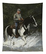 Big Creek Man On Spotted Horse Tapestry