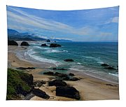 Beach At Ecola State Park Tapestry