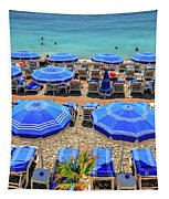 Beach At Nice France Tapestry