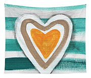 Beach Glass Hearts Tapestry