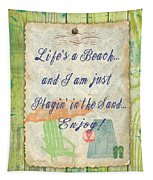 Beach Notes-e Tapestry by Jean Plout