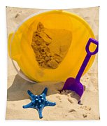 Beach Sand Pail And Shovel Tapestry