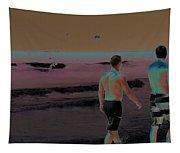 Beach Solar Series Xi Woman Swimming Usa Tapestry