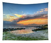 Beach Sunset Tapestry
