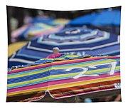 Beach Umbrella Rainbow 2 Tapestry