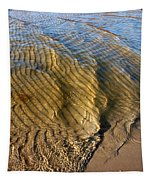Beach Wave Pattern. Tapestry