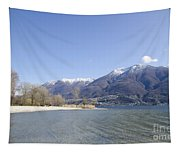 Beach With Mountain Tapestry