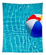 Beachball On Pool Tapestry