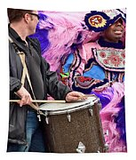 Beads And Feathers At Mardi Gras Tapestry
