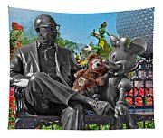Bear And His Mentors Walt Disney World 03 Tapestry