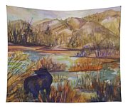 Bear In The Slough Tapestry