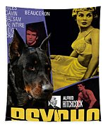 Beauceron Art Canvas Print - Psycho Movie Poster Tapestry