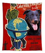 Beauceron Art Canvas Print - The Great Dictator Movie Poster Tapestry