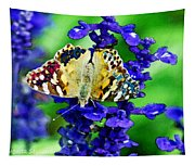 Beautiful Butterfly On A Flower Tapestry