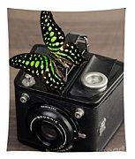 Beautiful Butterfly On A Kodak Brownie Camera Tapestry