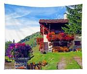 Beautiful Cottage Tapestry