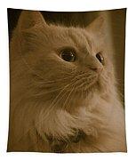 Beautiful Creamy Persian Cat Mix Portrait Tapestry