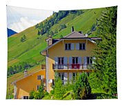 Beautiful House In Mont Blanc Tapestry