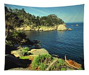Beautiful Monterey Bay From Point Lobos Tapestry