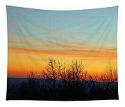 Beautiful Mountain Sunset Tapestry