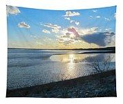 Beautiful Sunset Iowa River Tapestry