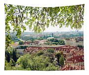 Beautiful View Of Prague Tapestry