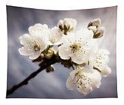 Beautiful White Blossoms Tapestry