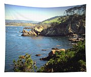 Beautifully Rugged Shoreline At Point Lobos Two Tapestry