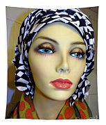 Beauty In Turban Tapestry