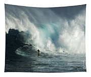 Beauty Of Surfing Jaws Maui 7 Tapestry