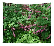 Bed Of Bleeding Hearts Tapestry