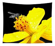 Bee In Black And White Tapestry