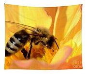 Bee In Flower Tapestry
