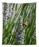 Bee In Lavender Tapestry