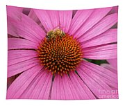 Bee In The Pink Tapestry