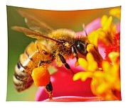 Bee Laden With Pollen 2 By Kaye Menner Tapestry