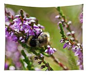 Bee On Heather Tapestry