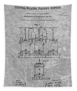 Beer Brewery Patent Charcoal Tapestry
