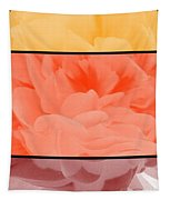 Begonia Petals Triptych Tapestry